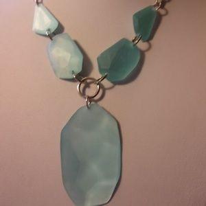 Jewelry - Chunky Blue Faux Stone Statement Choker Necklace